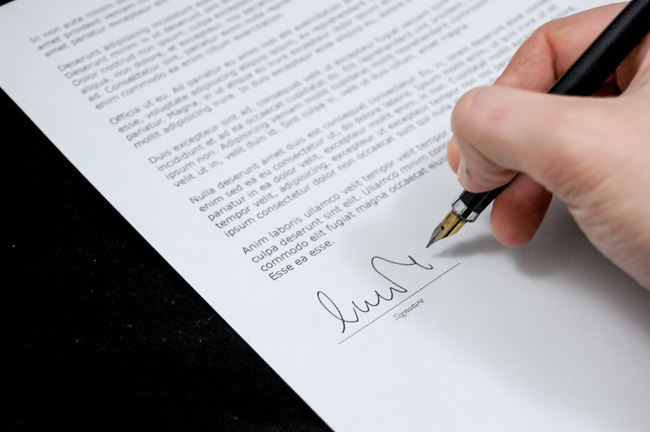 document agreement documents sign