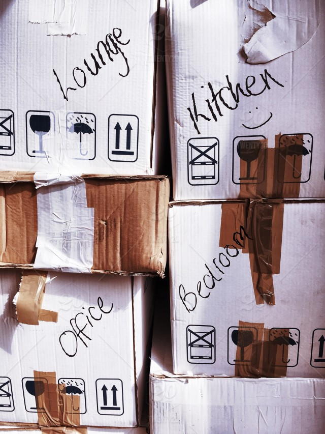 stock photo box stacked moving boxes tape moving house packing moving day moving boxes ecad f  b fffbdac